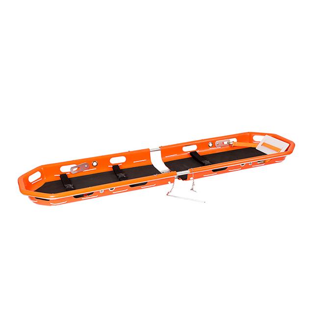 用于直升机救援的带安全带的塑料PE紧急篮筐担架