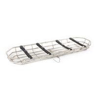 Stainless 2 Piece Basket Stretcher with Straps for Emergency