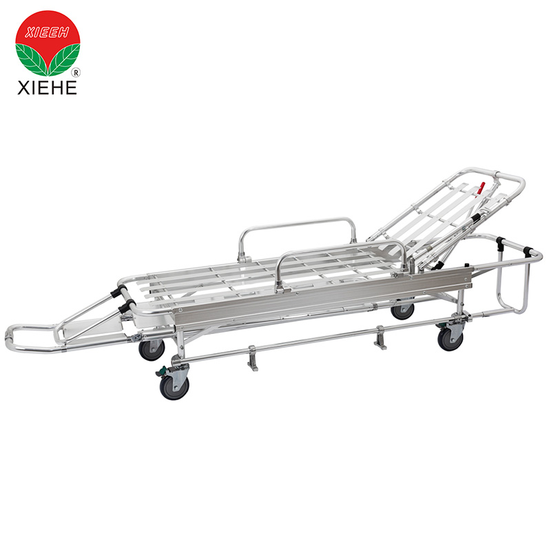 Wheeled Patient Transfer Emergency Ambulance Stretcher Positions Lift
